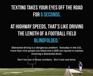 Distracted Driving Graphic - Imperial Insurance