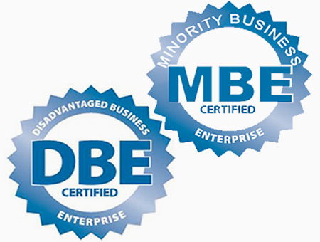 DBE and MBE Certification Seals